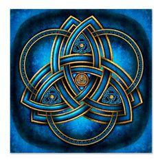 Blue Celtic Triquetra Square Sticker x by Naumaddic Arts - CafePress Celtic Symbols, Celtic Art, Celtic Knots, Irish Symbols And Meanings, Celtic Patterns, Celtic Designs, Vikings, Gravure Metal, Les Aliens