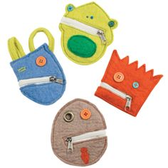 Wallet Monsters - cute and easy party favours Felt Wallet, Felt Crafts, Diy Crafts, Felt Patterns, Monster Party, Art Club, Gift Packaging, Little Boys, Upcycle