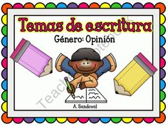 Opinion Writing in Spanish product from Angelica Sandoval on TeachersNotebook.com