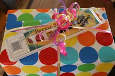 The new birthday card!  The next time you are wrapping a gift for a child's birthday, grab a box of watercolors instead of a card.   These watercolors are cheaper than most cards and kids will actually use them instead of just tossing them in the trash along with the wrapping paper. Just grab a permanent marker and write your message right on the box.