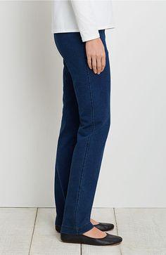 Pure Jill indigo knit slim-leg pants