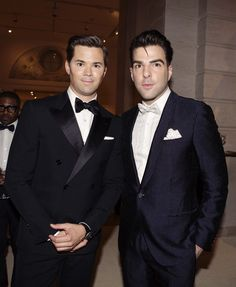 Andrew Rannells and Zachary Quinto