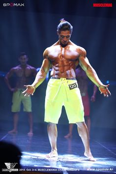 Choi Jun (최준, Korean Bodybuilder) at 2014 Muscle Mania Korea