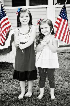 Oshkosh patriotic girls. #redwhitebgosh