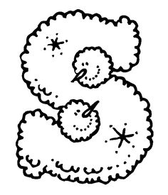 Letter S Coloring Pages Inspirational Lumpy Snowman Christmas Letters Free Alphabet Snowman Coloring Pages, Alphabet Coloring Pages, Coloring Book Pages, Free Printable Alphabet Letters, Alphabet Templates, Snowmen Pictures, Christmas Alphabet, Coloring Pages Inspirational, Letters And Numbers