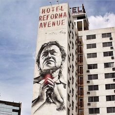 """""""Maria de la Reforma"""" painted in Mexico City, 2012..portrait of Maria Guardado. Prayers for #Ayotzinapa and all those lost to corruption, injustice and violence.. #yamecansé ..repost from @mural_mx"""