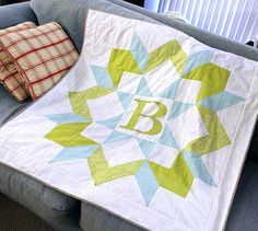 """Baby quilt. Great Idea for a """"Swoon"""" or Carpenter's block by Frivolous Necessity Quilting Projects, Quilting Designs, Quilting Ideas, Sewing Projects, Hand Quilting, Sewing Ideas, Star Quilts, Quilt Blocks, Star Blocks"""