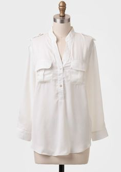 Mount Tyree Pocket Blouse In White at #Ruche @Ruche