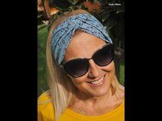 Fascia Miranda - Un accessorio per tutte le stagioni - Anna Borrelli Round Sunglasses, Mirrored Sunglasses, Floral Headbands, Scrunchies, Sewing Patterns, Hobby, Barbie, Tutorials, Fashion