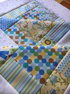 Unfinished quilt top  Snips and Snails  Riley by QuiltingDiva