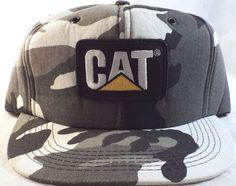 NEW vintage USA made CAT Snapback Caterpillar Cap Trucker Hat CAMO Foam   Cat Trucker Hats ba7809d03c92