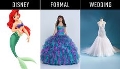 """Ariel """"The Little Mermaid"""" - Disney Princesses-Inspired Gowns for Every Stage of Life"""