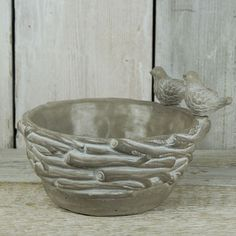 Stone Nest With Birds | Satchville Gift Co - Bird Feeder