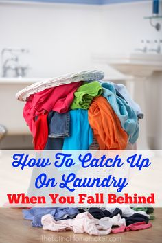 How To Catch Up On Laundry When You Fall Behind. Are you behind on laundry, and you're not sure how to get back on track? Check out these tips to help you tackle Mt. Laundry, and get back to your normal laundry routine. Organization Station, Laundry Room Organization, Bathroom Storage, Doing Laundry, Laundry Hacks, Diy Cleaning Products, Cleaning Hacks, Cleaning Recipes, Deep Cleaning Checklist