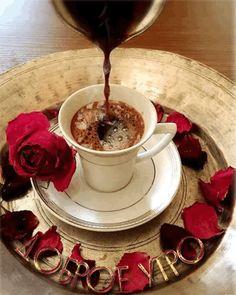 Turkish Coffee With Chocolate - Coffee Beans Tree - - - Coffee Menu Illustration - Coffee Tea Thoughts Coffee Gif, Coffee Images, I Love Coffee, Coffee Quotes, Coffee Break, My Coffee, Coffee Cups, Coffee Menu, Gif Café