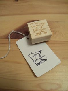 Handmade in Minnesota USA Rubber Stamp by Critchley on Etsy, $12.00