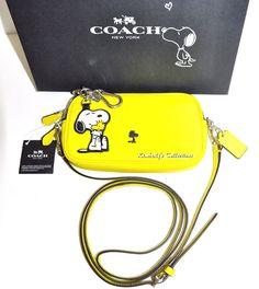 COACH X SNOOPY Limited Edition WOODSTOCK Crossbody Purse Bag & Key Chain NWT #Coach #CrossBodyPouchClutchShoulderBag