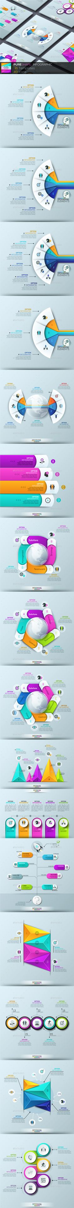 Pure Shape Infographic Template PSD, Vector EPS, AI Illustrator