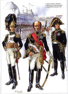Napoleon Généraux 1792-1809 1-Général Dorsenne 2-Maréchal Louis-Nicolas Davout 3-Général Pierre-Augustin Hulin
