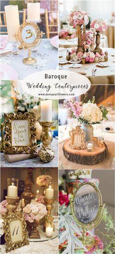 vintage baroque wedding centerpieces #weddings #vintageweddings #weddingideas #weddingdecor
