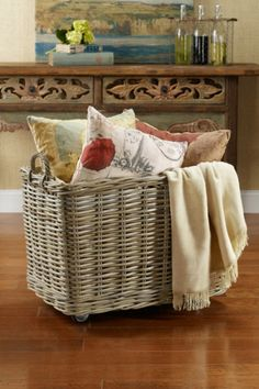 Awesome Idea !!  How To Add wheels to a Basket!