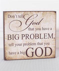 Look at this #zulilyfind! 'Big Problem' Block Sign #zulilyfinds