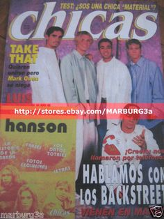 MAGAZINE Spanish AARON CARTER BSB BACKSTREET BOYS HANSON TAKE THAT