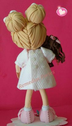 hairdo idea for fun foam dolls (photo)