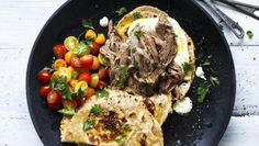 Adam Liaw recipe: Slow-cooked lamb with garlic yoghurt and milkbread