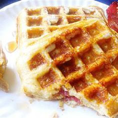 """Brown Sugar Bacon Waffles 