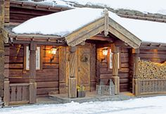 Mountain Timber Cabin at Geilo, Norway Timber Cabin, Luxury Homes Dream Houses, Dream Homes, Mountain Homes, Mountain Cabins, Tiny House Cabin, Cabins And Cottages, Cabin Design, Wooden House
