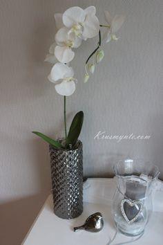 okridee kunstig blomst interior interør dekor når blosmst faller av sølvpotte hvit lin chi høst 2012 / http://krusmynte.com