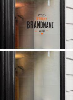 Window Sign Mockup — Mr.Mockup | Graphic Design Freebies