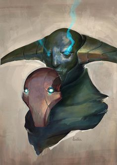 Sven the Rogue Knight from Dota 2.  Art by Kunkka.