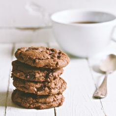 A gently spiced and aromatic double chocolate cookie.