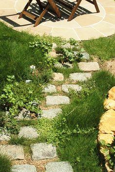 ヨーロッパの石で造る石畳