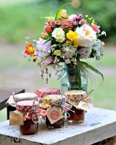 regalar botes de mermelada en una boda