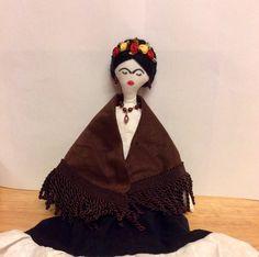 Frida rag doll Frida Kahlo doll Mexican doll by OrquidiasCreations