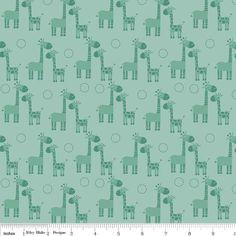Giraffe Fabric Riley Blake Fabric Giraffe by AnnadaisysFabrics