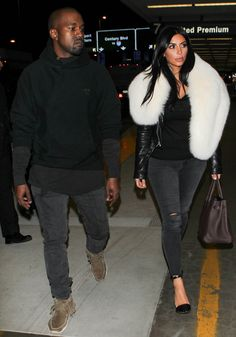 Kim Kardashian and Kanye West Take Couples' Airport Style to the Next Level  #InStyle