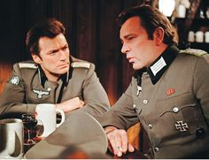 Clint Eastwood with Richard Burton in the WWII actioner Where Eagles Dare