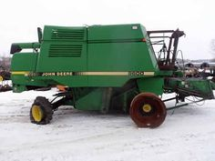 John Deere 9600 combine salvaged for used parts. This unit is available at All States Ag Parts in Downing, WI. Call 877-530-1010 parts. Unit ID#: EQ-23340. The photo depicts the equipment in the condition it arrived at our salvage yard. Parts shown may or may not still be available. http://www.TractorPartsASAP.com