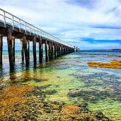 From blue to green. Point Lonsdale Jetty near Queenscliff on the Bellarine Peninsula. November 2015. by salty_freckles http://ift.tt/1JO3Y6G