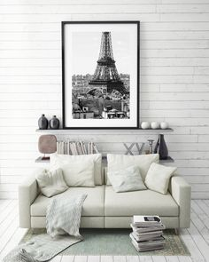 Excited to share this item from my #etsy shop: Digital Download - Eiffel Tower - Black and White - Rooftops of Paris - Paris Photography - Travel Photo - Fine Art Photography - Wall Art Paris Photography, Fine Art Photography, Travel Photography, Paris Paris, Wall Decor, Wall Art, Rooftops, Printing Services, No Time For Me