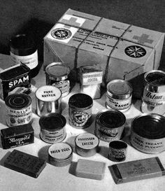 Red Cross food package for POWs. I hope my dad was lucky enough to get one at his camp in Germany