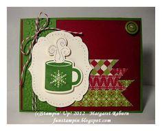 Scentsational Season Mug card with Festival of Prints dsp stack, framelits & more. Thanks Margaret!