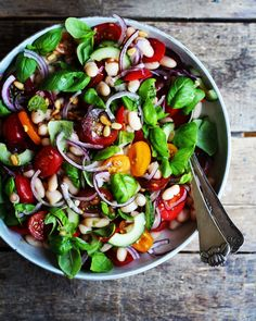 Salad Recipes For Dinner, Healthy Salad Recipes, Lunch Recipes, Real Food Recipes, Vegetarian Recipes, Chicken Recipes, Healthy Food, Baked Meatball Recipe, Nutrition Meal Plan