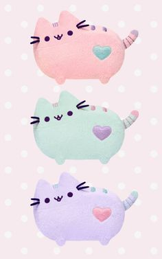 Pastel Pusheen plush toys available at Hey Chickadee