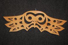 NATIVE AMERICAN scroll OWL intarsia art by GielishWoodSculpture