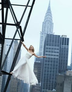 Kate Winslet. In case I overcome my fear of heights, join a steel workers union or two & plan their annual night out.